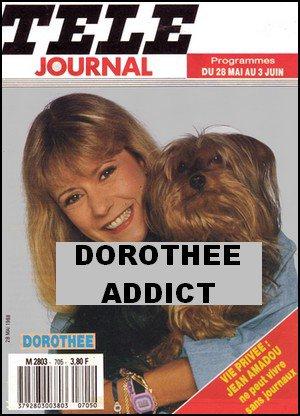 """Dorothée en couverture de""""Télé Journal""""en 1988."""