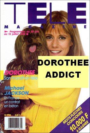 """Dorothée en couverture de""""Télé Magazine""""en 1988."""