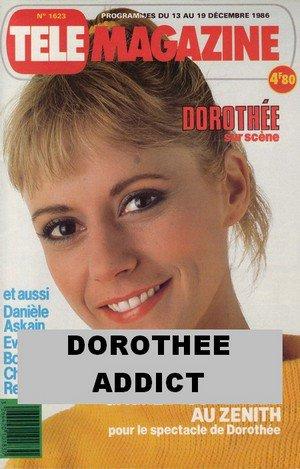 """Dorothée en couverture de""""Télé Magazine""""en 1986."""