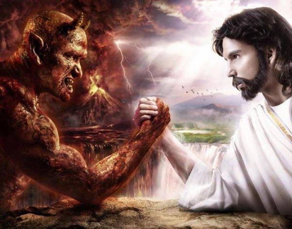 Batèle invasion entre Dieu et Diable