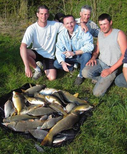 Première pêche en carpodrome