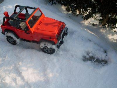 dans la neige.....