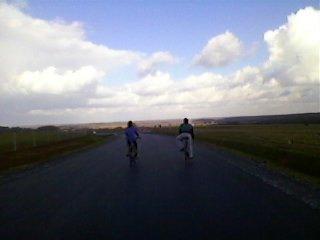 vue de la paysage et mes deux copains!
