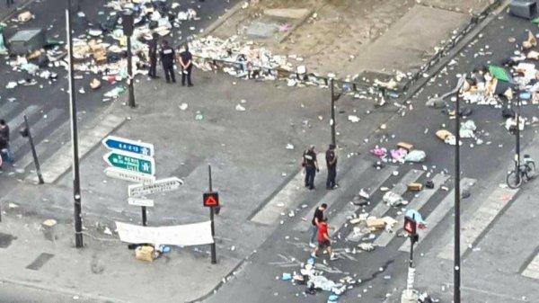 Paris transformé en poubelle à cause des migrants, de l'islam et des clandestins. (JUIN 2017)
