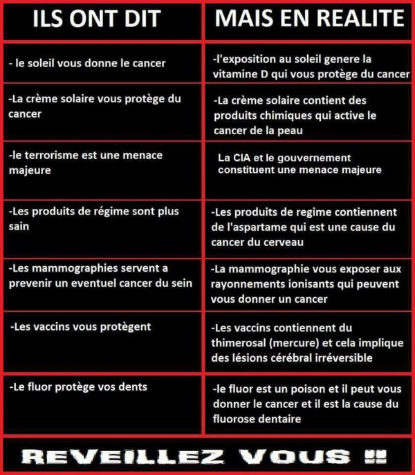 REVEILLEZ-VOUS. VACCIN: CANCER