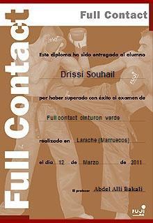 diplom of full contact