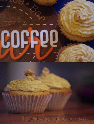 Cupcakes au café et aux noix