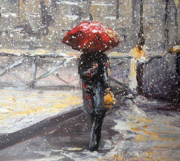 Paris, le fantôme de la Samaritaine sommeille sous la neige de janvier...par Dam Domido