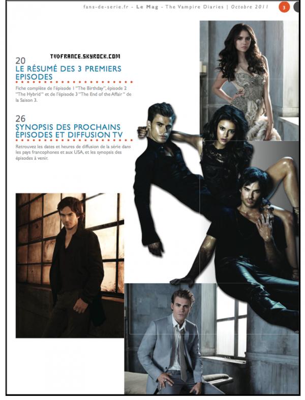 *  * Un magazine mensuel sur TVD a été mis en ligne gratuitement. Découvre le numéro 1 du mois d'Octobre en cliquant ici *  *
