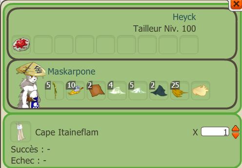 Craft cape Itaineflam