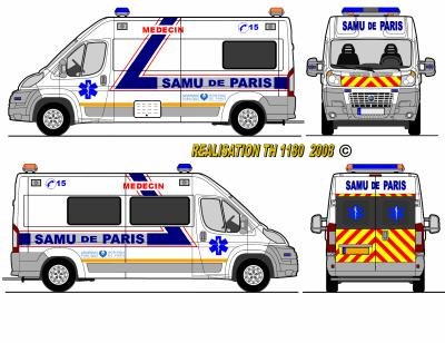 Fiat ducato prototype samu de paris world secours paint - Comment dessiner un camion de pompier ...