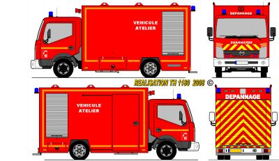 Nissan cabstar pompiers camion atelier d pannage france - Dessiner un camion de pompier ...