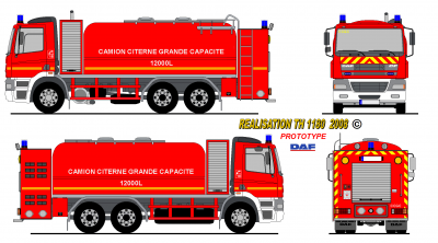 Daf cf 95 ccgc pompiers prototype france world secours paint - Comment dessiner un camion de pompier ...