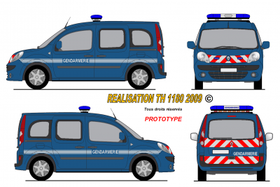 Renault kangoo 2008 gendarmerie fran aise prototype - Comment dessiner un camion de pompier ...