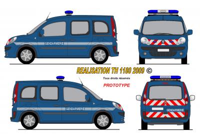 Renault kangoo 2008 gendarmerie fran aise prototype - Gendarme dessin ...