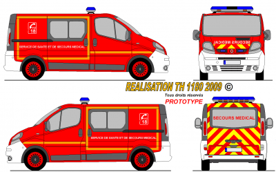 Renault trafic sdis fr world secours paint - Dessiner un camion de pompier ...