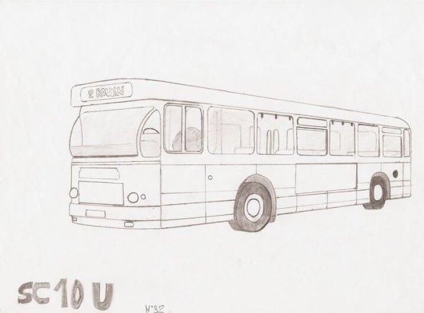 sc 10 U en dessin ex rouen