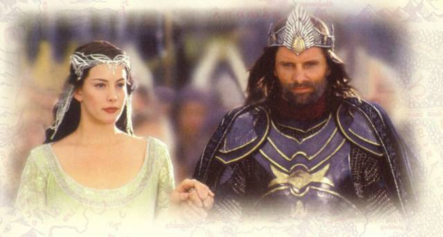 Arwen and Aaragorn