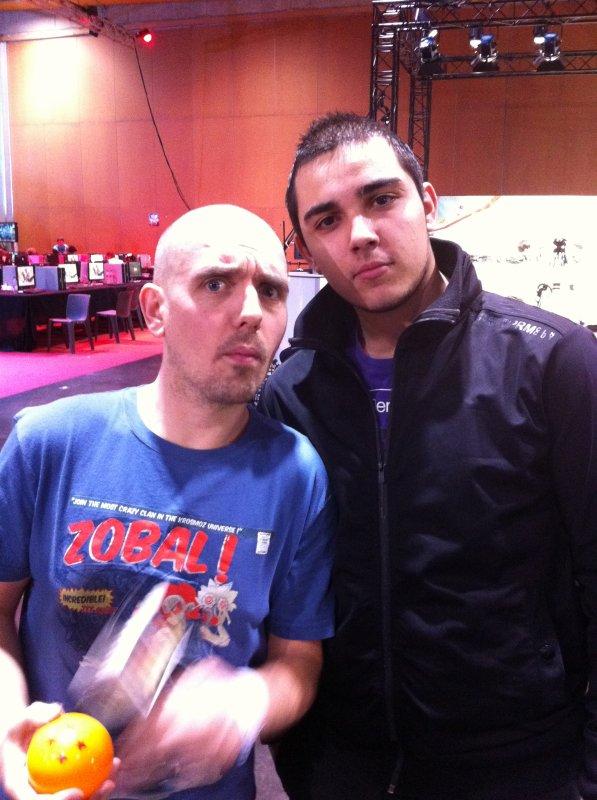 Yass et une zobalette, Malik et Davy à la convention
