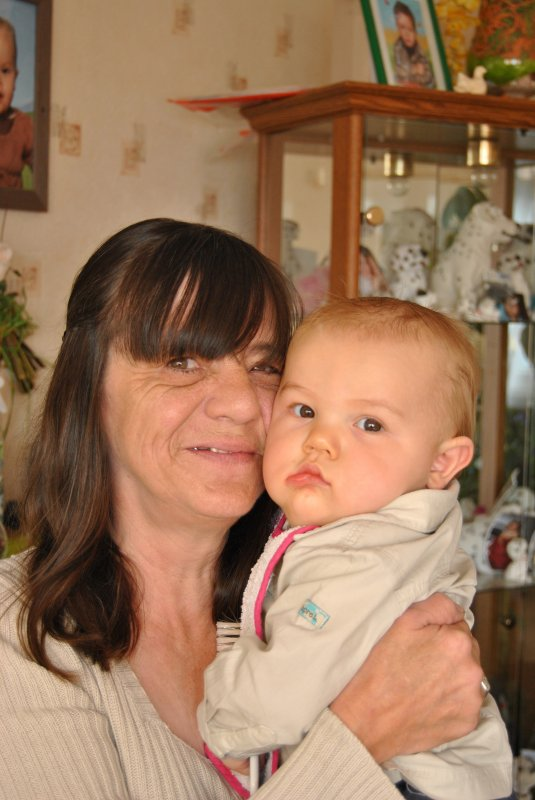 ma maman avec son petit fils justin