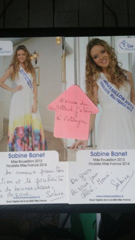 Dédicace de Sabine Banet