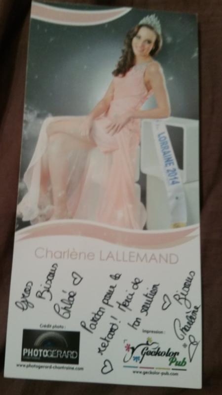 Dédicace de Charlène Lallemand !