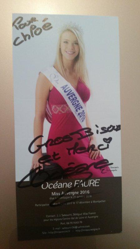 Dédicace d'Océane Faure !