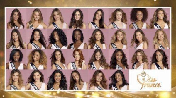 Mon classement pour l'élection de Miss France 2018