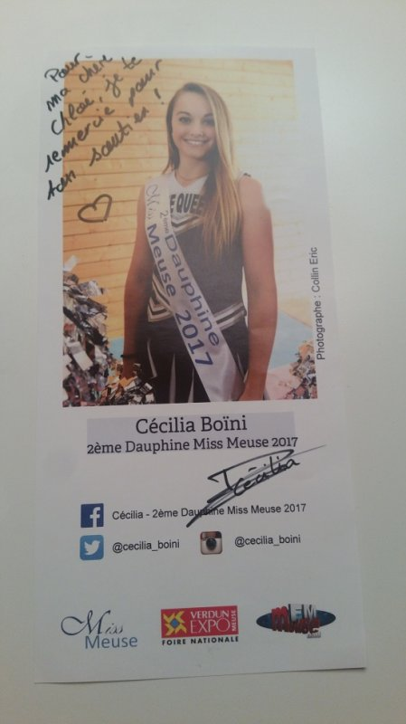 Dédicace de Cécilia Boïni !