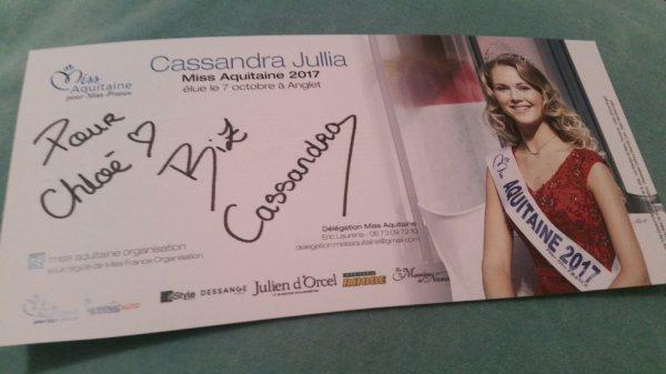 Dédicace de Cassandra Jullia !