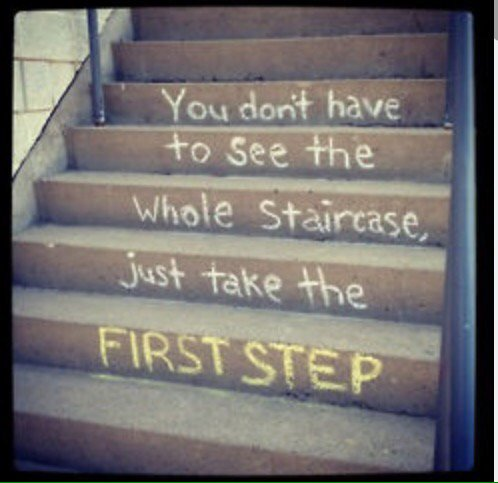 You don't have to see the whole staircase. Just take the first step.