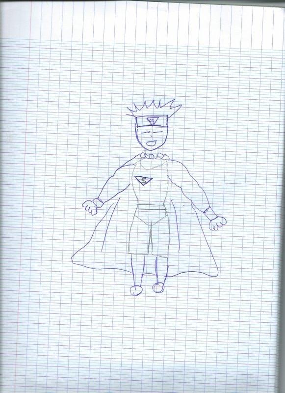 Le super superman qu'on a fais !
