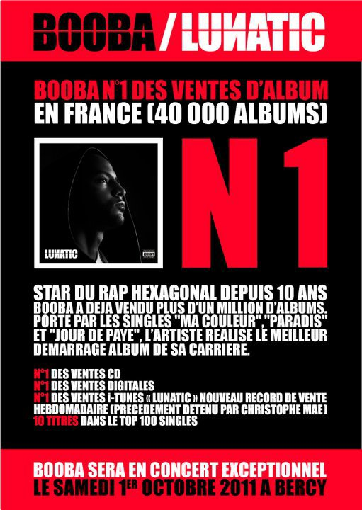 "‎""Lunatic"" N°1 des ventes d'album en France !!!"