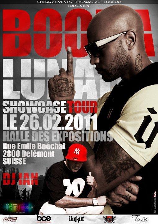 Booba au Showcase Tour Le 26 . 02 . 2011 En Suisse  Accompagné Du DJ IAN .