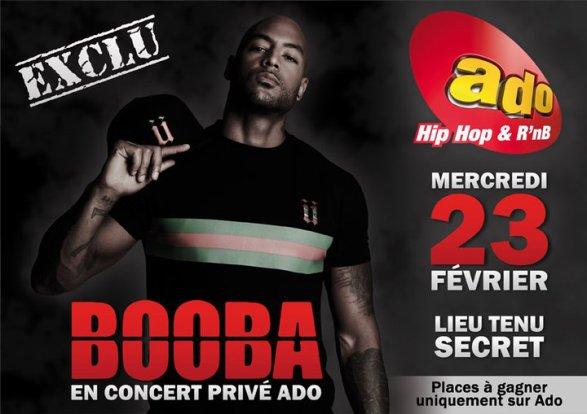 BOOBA en concert privé avec ADO FM le 23 février ! Ecoutez ADO et gagnez vos places pour le concert!
