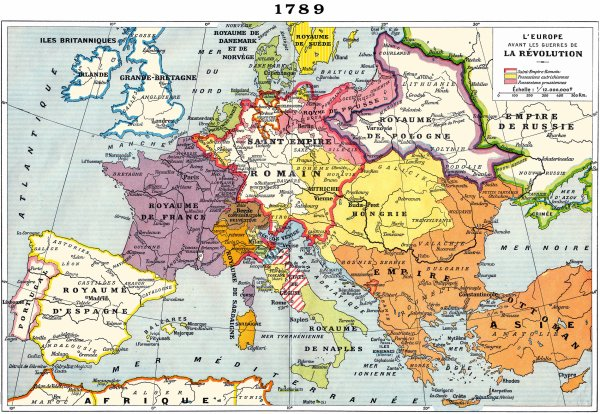 Carte d'Europe en 1789