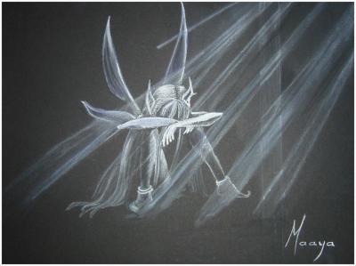 Mon deuxième dessin au pastel