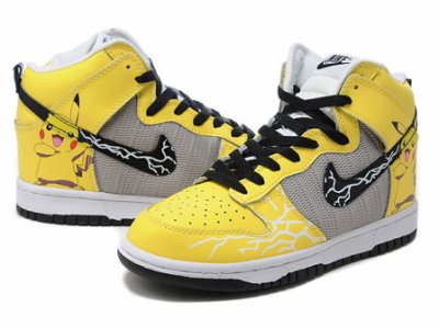 sale retailer 6e7d2 3e965 Nike Pikachu High Tops Pokemon Dunks
