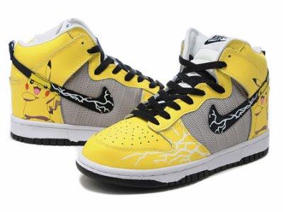 sale retailer 363bf cfe54 Nike Pikachu High Tops Pokemon Dunks