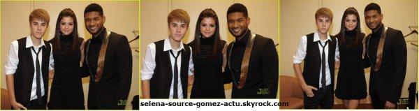 Selena Gomez , Justin Bieber et Usher