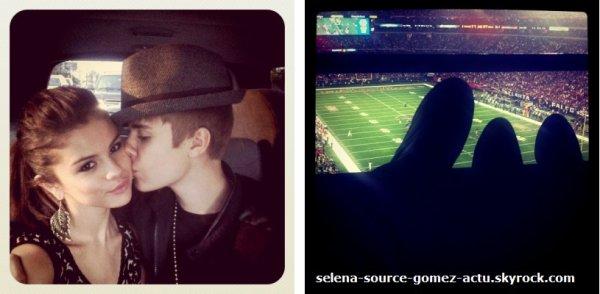 Jelena à un match de foot