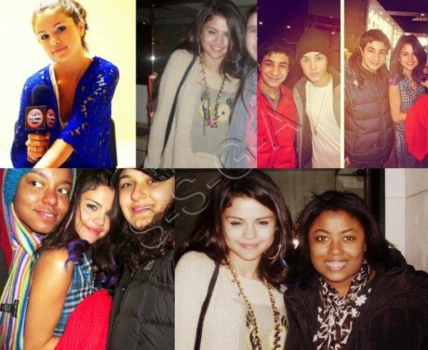 Selena Gomez avec ses fans