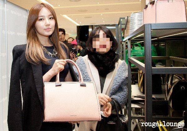 RATTRAPAGE DE NEWS! Février 2013: 09/02 Yoon Eun Hye fait du shopping pour le lancement de la nouvelle marque Rouge&Lounge