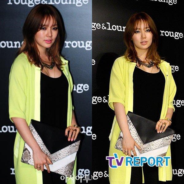 RATTRAPAGE DE NEWS! Février 2013: 21/02 Yoon Eun Hye à la soirée VIP organisé par la marque Rouge&Lounge