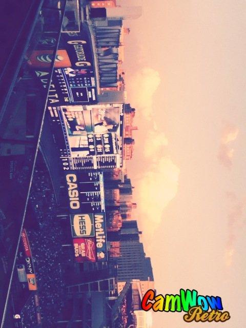 La vue des buildings a New York du Stade des Yankees