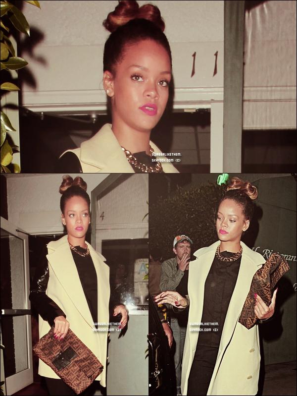 . .  ♦ 13.09.2011 Rihanna quittant le restaurant « Giorgio Baldi » à Santa Monica  à Los Angeles . .