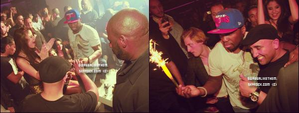 """♦ 10.07.2012 -  50 Cent a célébré son 37è anniversaire dans la boite de nuit """"Le Vendome"""" à Paris."""