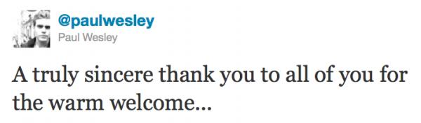.  Paul a rejoint Twitter !!!