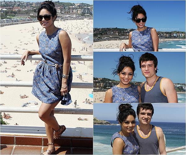 """18/01/12 : Nessa et Josh continuant la promo de """" The Journey 2 """" à Sydney en Australie"""