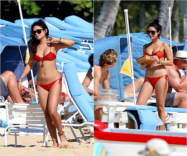 19/01/12 : C'est à Hawaii que Vanessa a retrouvée Austin. En effet ils ont été photographiés hier alors qui prennaient du bon temps sur une plage d'Hawaii
